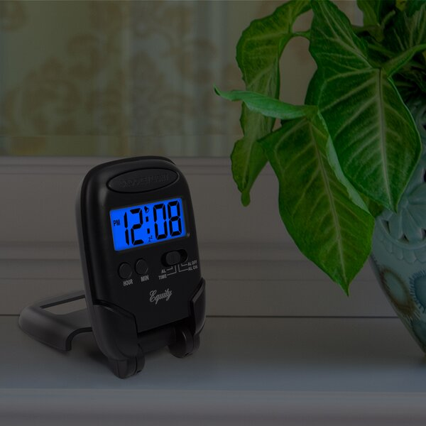 Equity Travel Fold-up Alarm Clock by La Crosse Technology