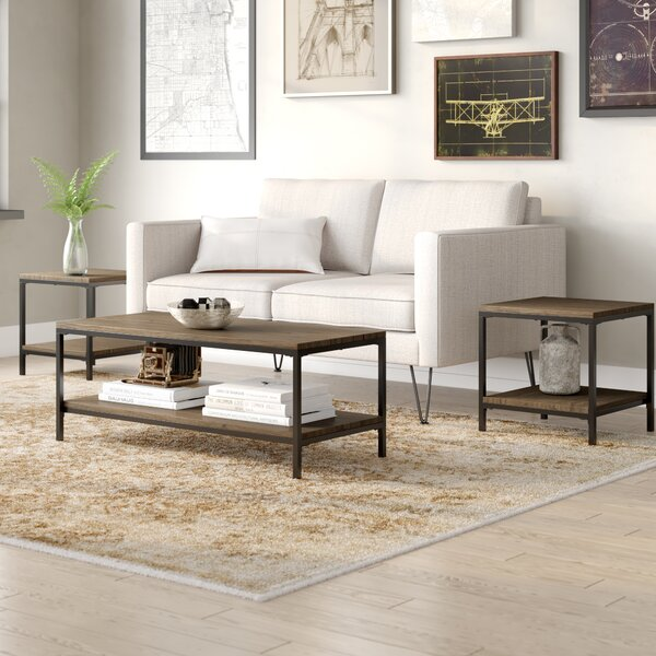 Hallett 3 Piece Coffee Table Set by Williston Forge