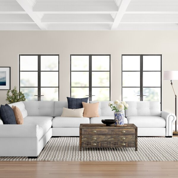Willia Symmetrical Button-Tufted Modular Sectional By Three Posts