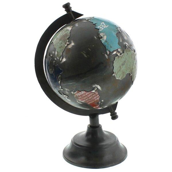 Reclaimed Metal Desk Globe by HomArt