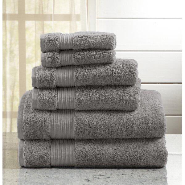 Highland Rim 6 Piece Turkish Cotton Towel Set by Trent Austin Design