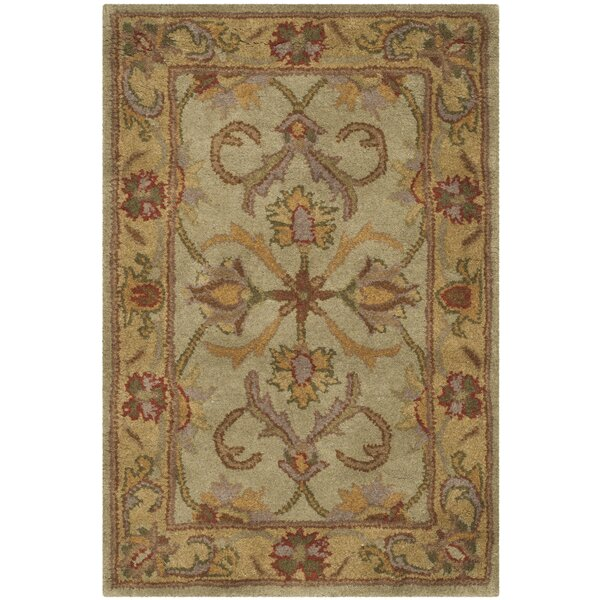Taylor Hand-Tufted Wool Green/Gold Area Rug by Astoria Grand