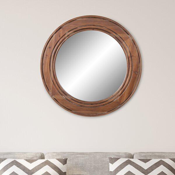 Lacroix Reclaimed Wood Wall Mounted Mirror by Breakwater Bay