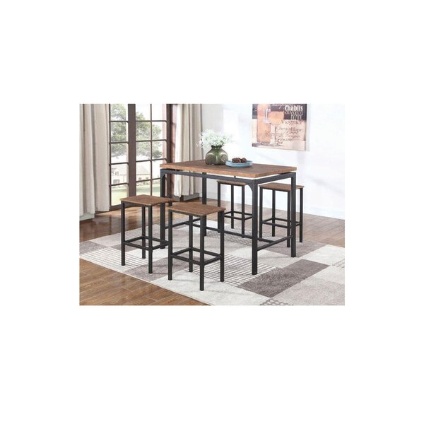 Bratton 5 Piece Pub Table Set by Foundry Select