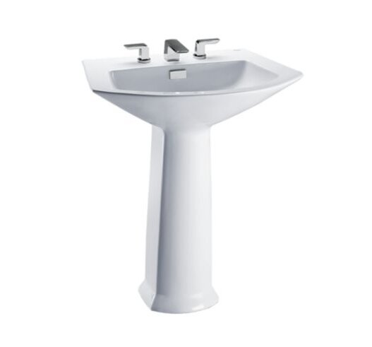 Soiree Vitreous China 30 Pedestal Bathroom Sink with Overflow by Toto