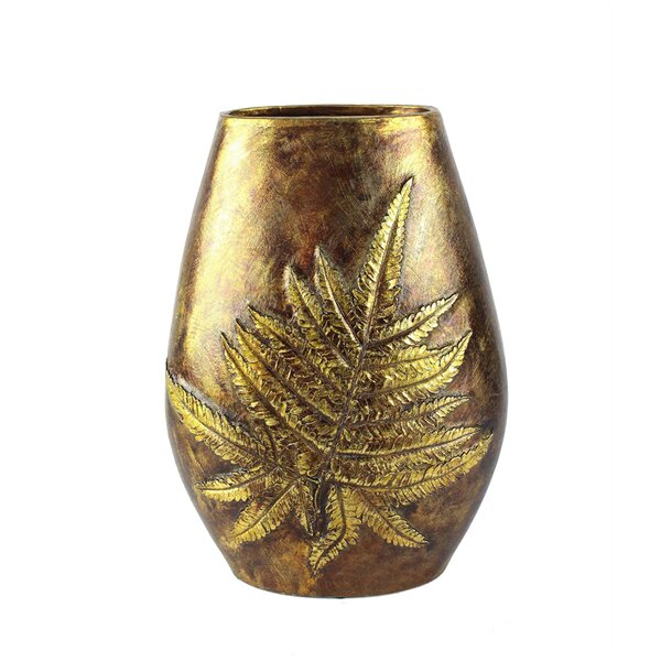 Wesolowski Dazzling Leaf Polyresin Table Vase by Loon Peak