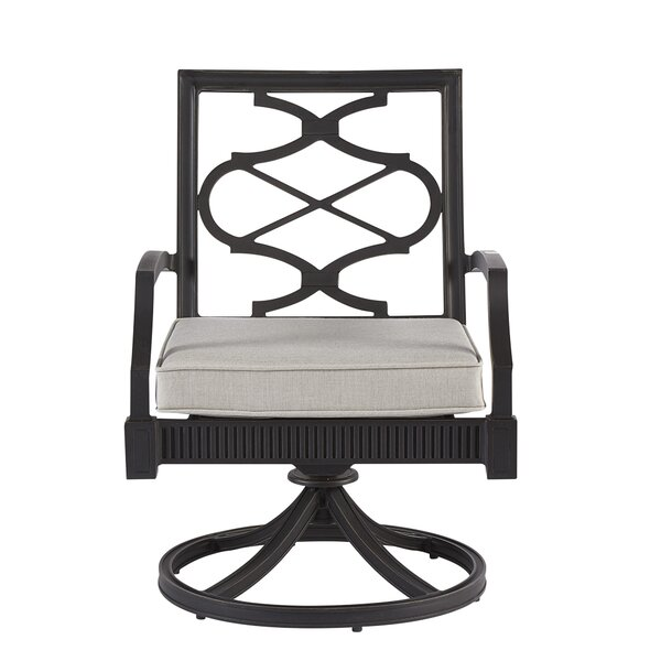Morrissey Phillips Swivel Patio Dining Chair with Cushion (Set of 2) by Canora Grey