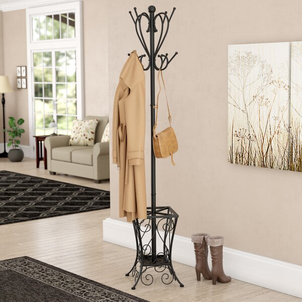 Hennessey Umbrella Holder Coat Rack by Three Posts