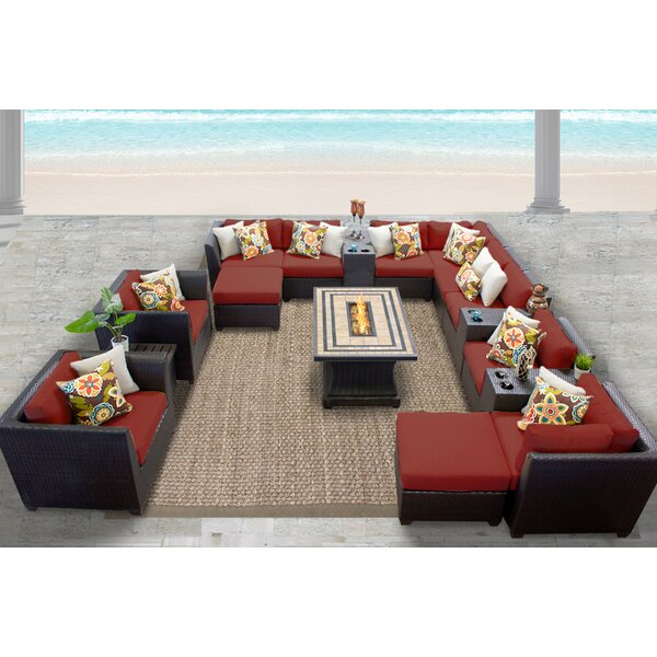 Medley 17 Piece Sectional Seating Group with Cushions by Rosecliff Heights