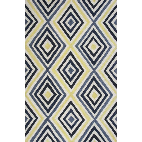 Donny Osmond Home Escape Handmade Ivory/Blue Area Rug by Donny Osmond Home