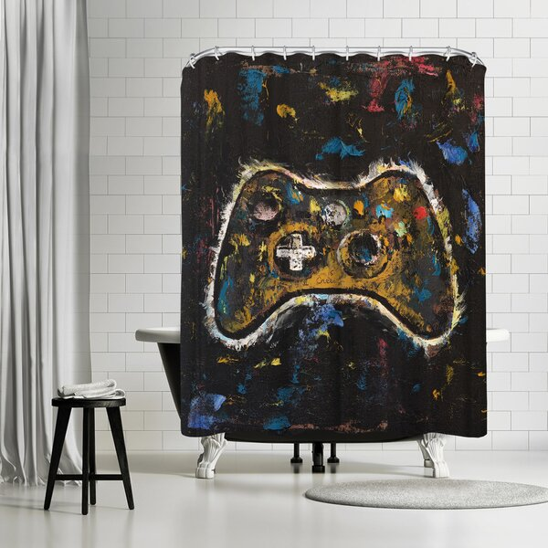 Michael Creese Video Gamer Shower Curtain by East Urban Home