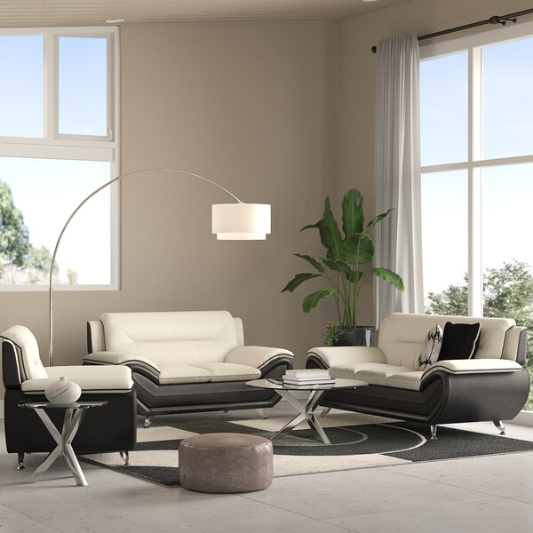 Jasmin 3 Piece Living Room Set by Orren Ellis