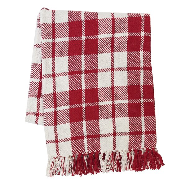 Vensey Plaid Cotton Throw by Gracie Oaks