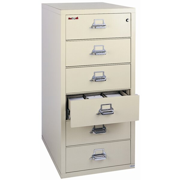 Fireproof 6-Drawer Card, Check, and Note Vertical File Cabinet