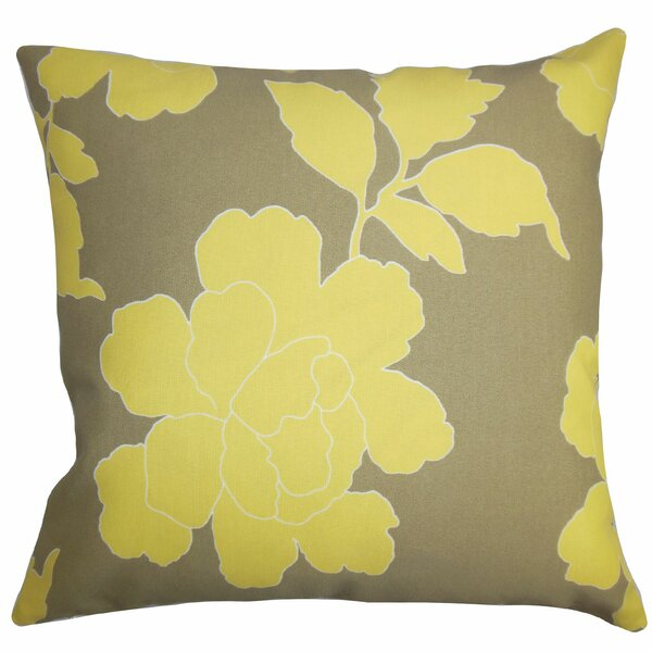 Verda Floral Outdoor Throw Pillow by The Pillow Collection