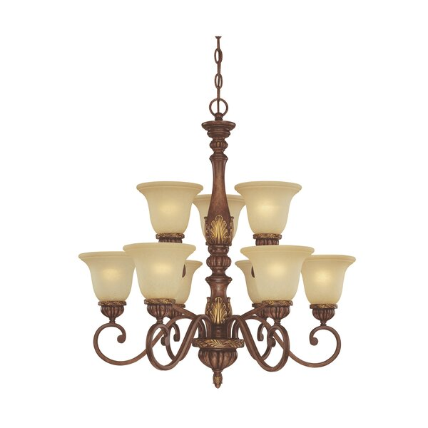 Cascadia 9-Light Shaded Tiered Chandelier By Dolan Designs