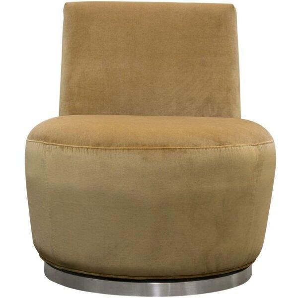 Eastville Swivel Slipper Chair by Everly Quinn