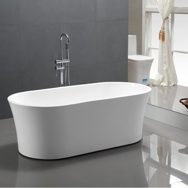 63 x 29.5 Freestanding Soaking Bathtub by Vanity Art