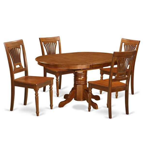 Spurling 5 Piece Solid Wood Dining Set by August Grove
