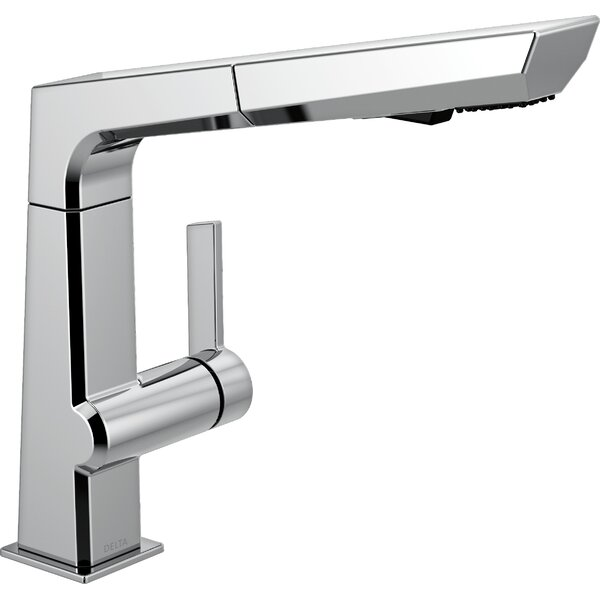 Pivotal Pull Out Single Handle Kitchen Faucet with Diamond Seal Technology by Delta
