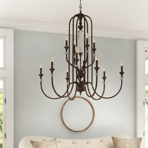 Lapierre 12 - Light Candle Style Tiered Chandelier By Lark Manor