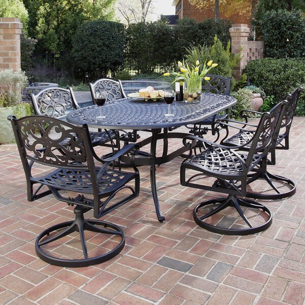 Van Glider 7 Piece Dining Set by Astoria Grand