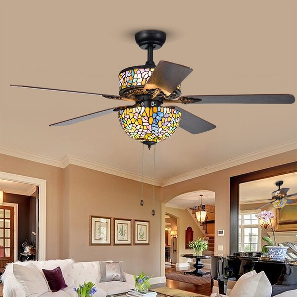 52 Petrillo 5 Blade Ceiling Fan by Astoria Grand