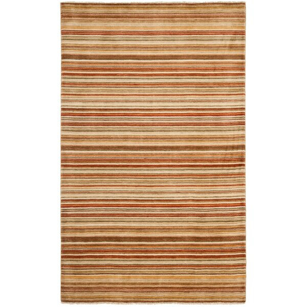 Wesley Hand-Knotted Rust Area Rug by Red Barrel Studio