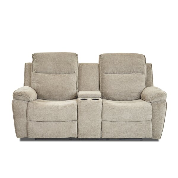 Get New Russo Reclining Loveseat by Charlton Home by Charlton Home