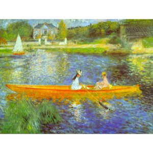 'The Seine' by Renoir Painting Print on Wrapped Canvas by Oriental Furniture