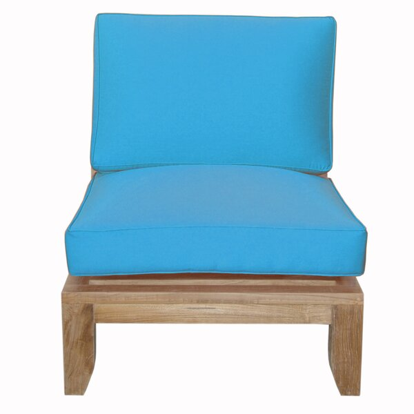 Luxe Teak Center Patio Chair with Sunbrella Cushions by Anderson Teak