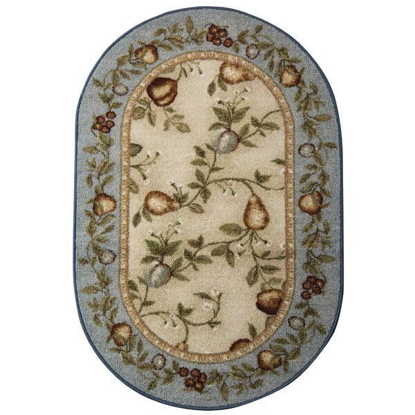 Splendid Fruit Blue/Beige Area Rug by Brumlow Mills