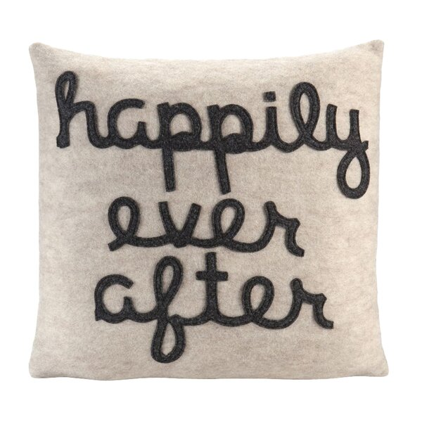 It Starts With A Kiss Happily Ever After Throw Pillow by Alexandra Ferguson