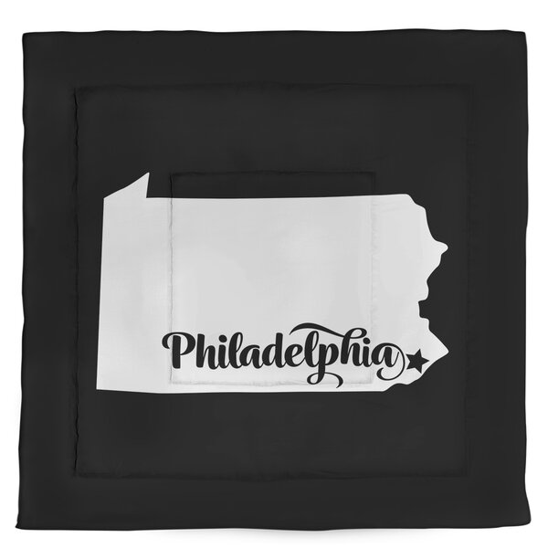 Pennsylvania Philadelphia Single Reversible Comforter