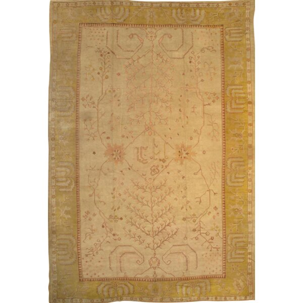 Doane Oushak Hand Knotted Wool Beige/Gold Area Rug
