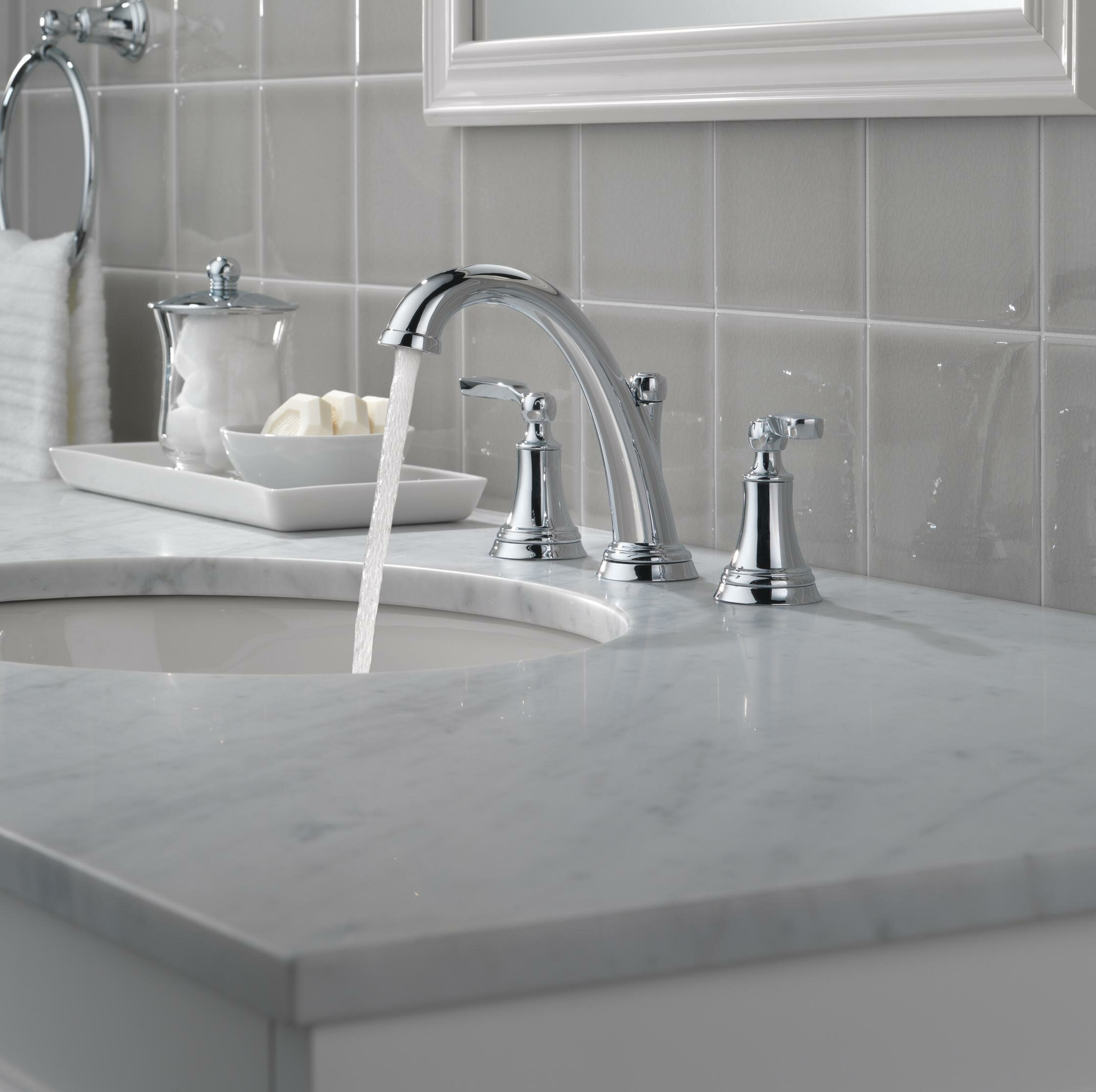 Delta Woodhurst Widespread Bathroom