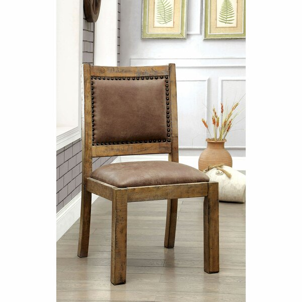 Review Reyes Upholstered Side Chair In Brown (Set Of 2)