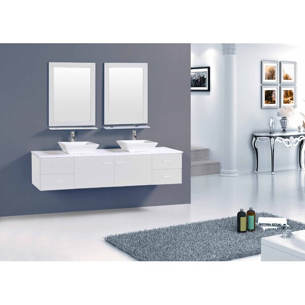 Azzitta 60 Double Bathroom Vanity Set by Orren Ellis