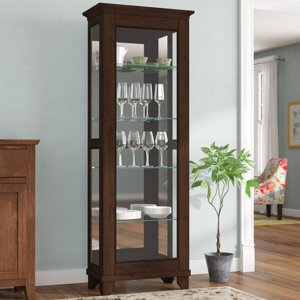 Monticello Lighted Curio Cabinet by Alcott Hill