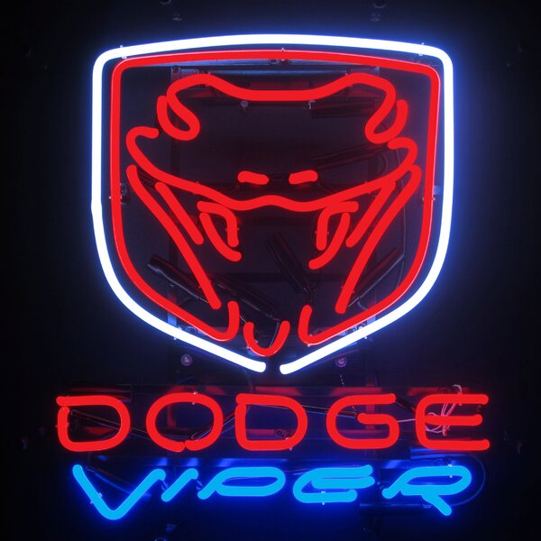 Dodge Viper Wall Light by Neonetics