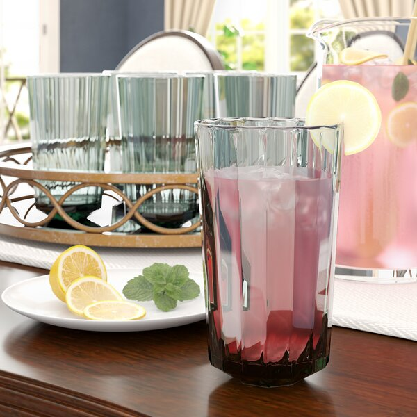 Arnetta 27 oz. Plastic Every Day Glasses (Set of 6) by Red Barrel Studio