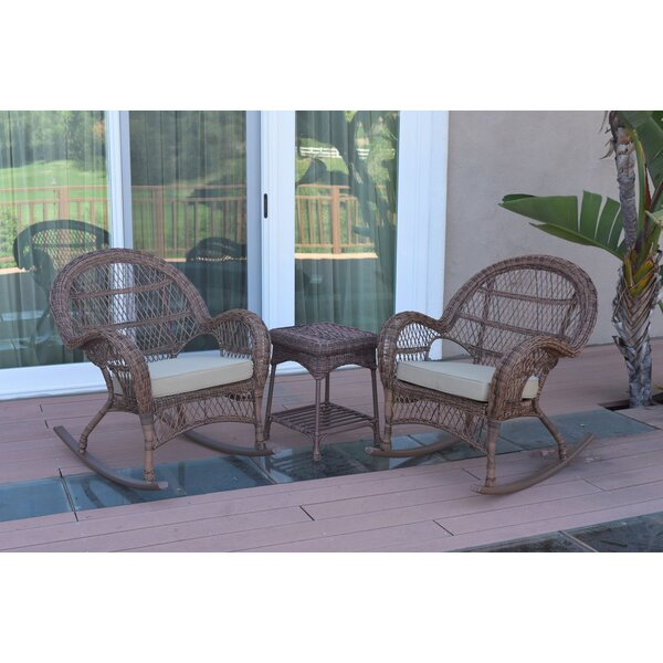 Mangum 3 Piece Rattan Seating Group with Cushions