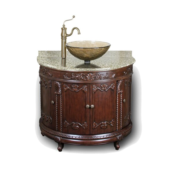 Butner 36 Semi-Circle Vanity with Vessel Top by Fleur De Lis Living