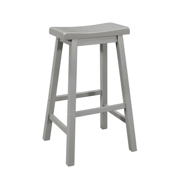 Wayde Wooden Bar Stool (Set of 2) by Highland Dunes