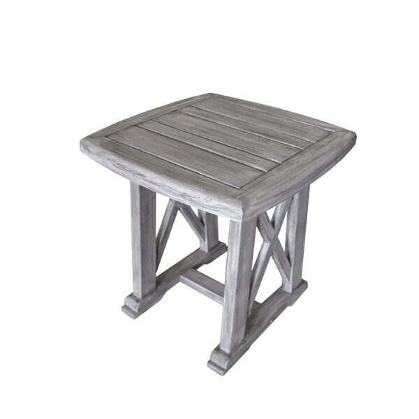 Jessica Solid Wood Side Table by Gracie Oaks