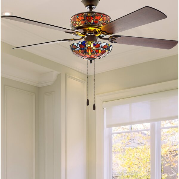 52 Nevels 5 Blade LED Ceiling Fan with Remote by A