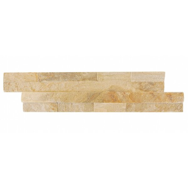 Natural Essence Random Sized Slate Splitface Tile in Beige Tahiti by Abolos
