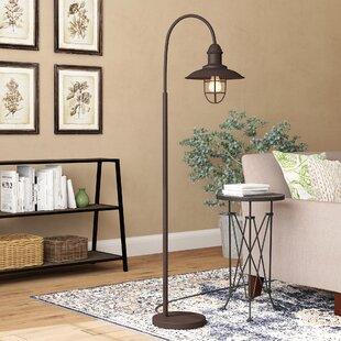 Task floor lamps youll love wayfair evergreen caged bell 63 task floor lamp aloadofball Images