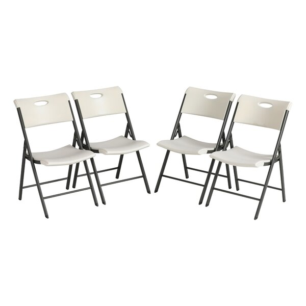 Plastic Folding Chair (Set of 4) by Lifetime