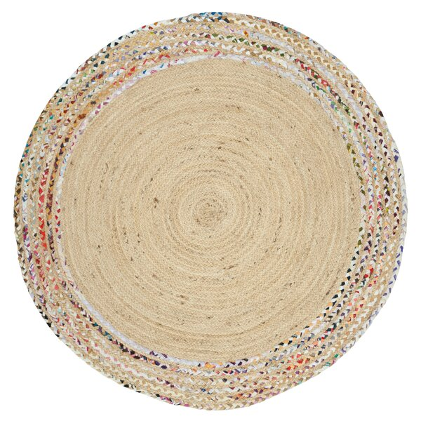 Abhay Hand Woven Cotton Ivory Area Rug by Bungalow Rose